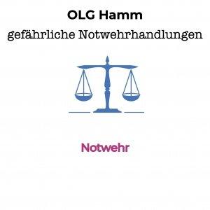 OLG Hamm- gefährliche Notwehrhandlungen sind erlaubt