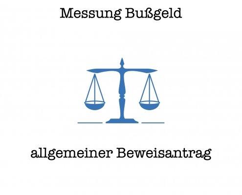 Kammergericht Beweisantrag Messung im Bußgeldverfahren