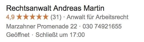 Rechtsanwalt Marzahn Google Rechtsanwalt Andreas Martin Anwalt