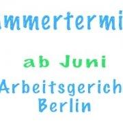 Kammertermine wieder ab Juni 2020 beim Arbeitsgericht Berlin