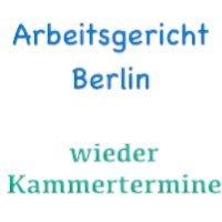 Kammertermine und Gütetermin beim Arbeitsgericht Berlin