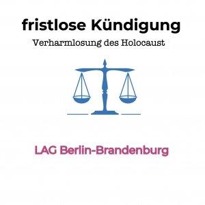 Verharmlosung des Holocaust - außerordentliche Kündigung